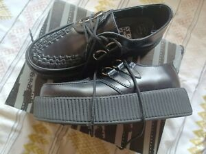 Women's VIVA T.U.K Leather Flatform/Platform Creepers UK Size 5