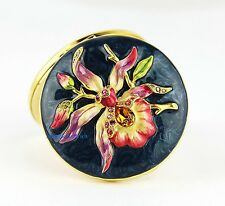 JAY STRONGWATER ESTEE LAUDER COMPACT MIRROR ORCHID SWAROVSKI EMPTY NEW