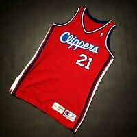 100% Authentic Malik Sealy Champion 94 95 Clippers Game Worn Used Jersey 44+4 L