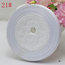 "Free Shipping wedding festival 25 Yards 3/8"" 10mm Craft Bows Satin Ribbon white"