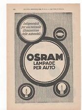 Pubblicità vintage OSRAM LAMPADE AUTO CAR advertising reklame werbung publicitè