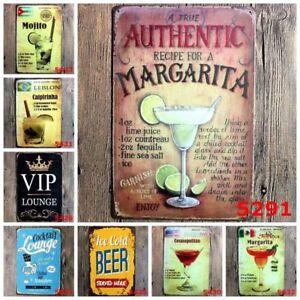 Vintage Tin Signs Metal Pin-up Poster Retro Bar Home Wall Hanging Decor Coffee