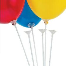 5 to 100 Set Long Latex Balloon Sticks Cups Birthday Wedding Party w Balloons US