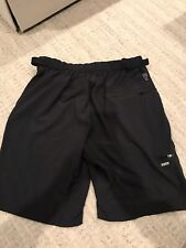 Zoic Ether No Liner Solid Black Mountain Bike Cycling Shorts Mens Sz XL