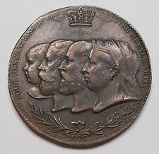 1837-1897 Queen Victoria 60th Year Medal SCARCE!! Four Generations Royal Family