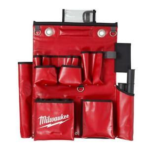 Milwaukee Tool Apron Lineman Compact Aerial Work Pocket Storage Holder Vinyl Red