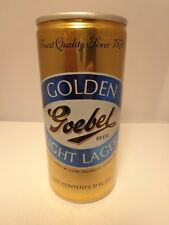 GOEBEL GOLDEN LIGHT LAGER FORGED STEEL TALL STAY TAB BEER CAN #69-13 DETROIT MI