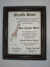 Giraffes Diploma - Giraffe Lover Diploma