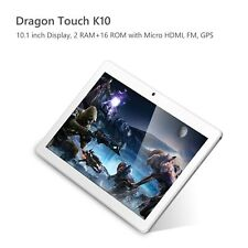 "Dragon Touch K10 10.1"" Quad Core Android Tablet 16GB WiFi HDMI GPS 