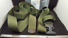 1 1/2 INCH WIDE MILITARY GREEN NYLON STRAP 114 INCHES LONG 8690542 F16-3B