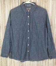 Weatherproof Vintage Men's Button-Down Long Sleeve Shirt (XL, Blue Floral)