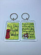 First Class Postal Worker Keyring - Xmas Gift Present Idea