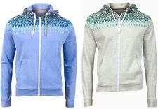 BraveSoul Mens Blue Beige Marl Zip Up Hoody Hoodie Jacket Jumper Size S M L (A4)