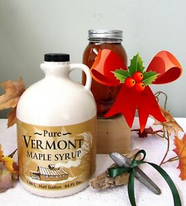 1/2 GL VERMONT Maple Syrup~SWEET CHRISTMAS GIFT~Ships Free to Your Special Ones!