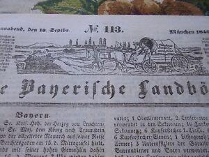 1840 Landbötin 113 / Stallwang Bayreuth Hüningen Nurenberg Braunau Auerbach