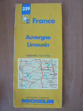 MICHELIN FRANCE MAP 239 FRANCE AUVERGNE LIMOUSIN