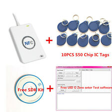 ACR122U NFC RFID Reader Writer For UID Changeable Duplicate clone S50 +Copy Tool