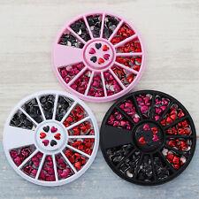 Mixed Color 3D Nail Art Decoration in Wheel Manicure Decor Heart Design