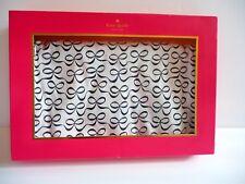 Kate Spade Nib Reversible Navy and White Bows Dot Cotton Baby Blanket Retail $58