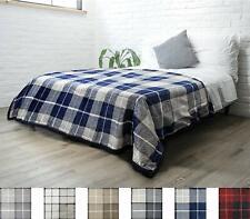 """Nice Fleece Blanket Sherpa Blue 60"""" x 80"""" Twin Reversible Lightweight Blanket"""