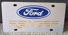 Ford Ranger Etikett Vanity Nummernschild Edelstahl Gold