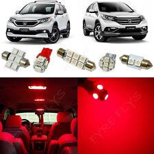 10x Red LED interior lights package kit for 2013-2016 Honda CRV HV3R