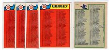 1X UNMARKED CHECKLIST 1983 84 O Pee Chee #134 NRMT+ opc