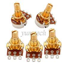 5x B500K Golden Plated Guitar Audio Taper Volume Control Pot Potentiometer 18mm
