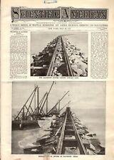 1896 Scientific American May 23 - Galveston jetties; Dudley Typewriter; elevator