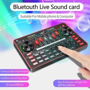 USB External Live Sound Card Studio Recode Audio karaoke Mixer live Streaming