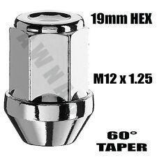 4 x M12 x 1.25 19mm Socket Hex Tapered Closed End Alloy Wheel Nuts SUZUKI WRX P1