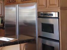 Sub-Zero 501R & 501F Side by Side Stainless Steel Refrigerator and Freezer