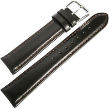 19mm deBeer Mens SHORT Brown Smooth Leather Watch Band Strap