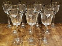 """* Set of 12 * Mikasa Crystal BRIARCLIFFE -- 8-3/8"""" Water Glasses Glass Goblets"""