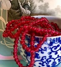 50 Vintage Cherry Brand, Miriam Haskell Glass Beads 5mm, Japan ruby Beads, #B6