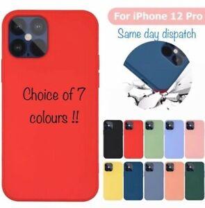 Genuine Premium Soft SILICONE LIQUID Case For iPhone12,12 Mini,12 Pro,12 ProMax