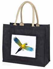 In-Flight Flying Parrot Large Black Shopping Bag Christmas Present Id, AB-PA9BLB