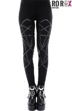 Restyle Gothic Leggings Nugoth Punk Occult Pentagram High Waist Stretchy Cotton