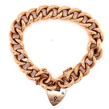 Victorian Rose Gold Heart Lock Link Bracelet