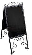 Ornate Vintage Sandwich Blackboard A Board Display Board Shop Metal Folding