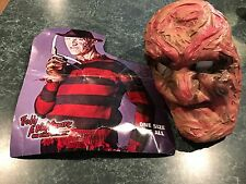 Nightmare On Elm Street Freddy Krueger Mask & Glove & Hat Costume Halloween