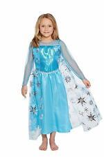 Ice Queen Child's Costume Elsa  Girls Princess Dress World book Day