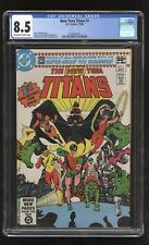 New Teen Titans #1 (DC 1980) Robin Starfire Cyborg Direct Market Edition CGC 8.5