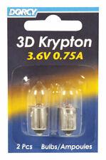 Dorcy  3D  Krypton  Flashlight Bulb  3.6 volt Bayonet Base