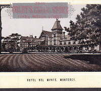 Hotel Del Monte Monterey 1890's Pebble Beach Golf Photo-Lith Cigar Store Ad Card