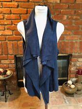 KAREN KANE $128 Womens Navy Solid Faux Suede High Lo HiLo Vest Plus sz 1X (XL)