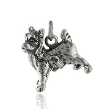 Yorkshire Terrier Charm - 925 Sterling Silver - Yorkie Dog Toy Puppy Miniature