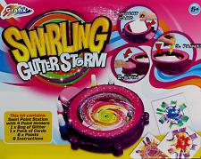 Spirografo stile vorticosi GLITTER ART STORM con Vernice per Bambini Craft giocattolo TPS