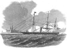 DENMARK. HMS Miranda, pioneer of, Saluting Kronborg Castle, Elsineur, 1854