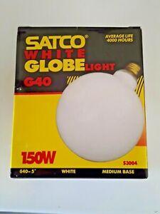 **** 6 Pack Satco S3004 120-Volt 150-Watt G40 Medium Base Light Bulb Gloss White